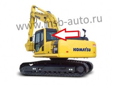 Стекло заднее экскаватор гусеничный Komatsu PC 200-8, Komatsu PC 220-8, Komatsu PC 300-8, Komatsu PC 400-8, Komatsu PC 750-8, Komatsu PC 800-8, 20Y-53-11271