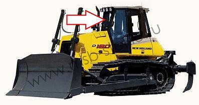 Стекло лобовое бульдозер New Holland D180