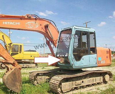 Cтекло лобовое нижнее Экскаватор гусеничный Hitachi EX100,120,200,300-3 серия