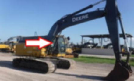 Стекло кузовное правое возле стрелы экскаватор John Deere 210 GLC-360 GLC ,  John Deere 210 DLC-360 DLC
