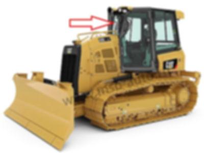 Стекло лобовое на бульдозер CATEPILLARD5K XL / CATEPILLAR D6K