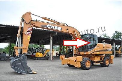 Стекло дверное левое колесный экскаватор Case WX130, WX210,WX350,WX470, WX370,CASE WX700, 2-3- серия .