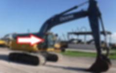 Стекло кузовное правое у стрелы экскаватор John Deere 210 GLC-360 GLC