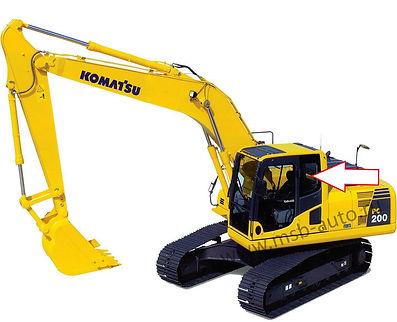Стекло кузовное левое экскаватор гусеничный Komatsu PC 200-8, Komatsu PC 220-8, Komatsu PC 300-8, Komatsu PC 400-8, Komatsu PC 750-8, Komatsu PC 800-8, 20Y-53-11241