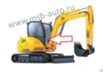 Стекло лобовое нижнее мини-экскаватор Jcb 8035 zts, Jcb 8065 zts
