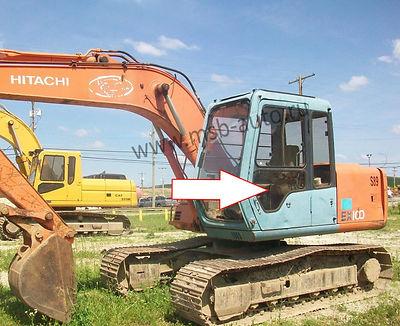 Cтекло дверное левое нижнее  Экскаватор гусеничный Hitachi EX100,120,200,300-3 серия