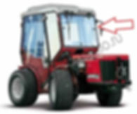 Стекло лобовое левое для трактора Antonio Carraro TTR 4400 HST