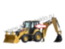 Стекло дверное левое верхнее экскаватор-погрузчик Caterpillar 428f2, 432f2, 434f2, 444f2