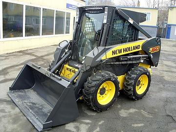 Стекло лобовое мини погрузчик New Holland L160, New Holland L170 .