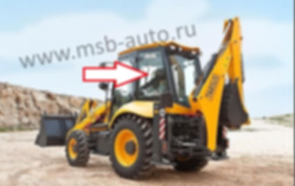 Стекло кузовное заднее левое экскаватор погрузчик ELAZ BL888 ЕЛАЗ,  Tarsus 880, Tarsus 880 plus, Тарсус