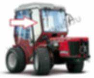 Стекло лобовое правое для трактора Antonio Carraro TTR 4400 HST