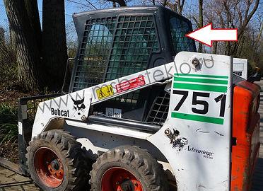 Стекло заднее мини погрузчик bobcat 751, bobcat 753