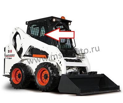 Стекло боковое правое мини-погрузчик Bobcat S18, Bobcat S16