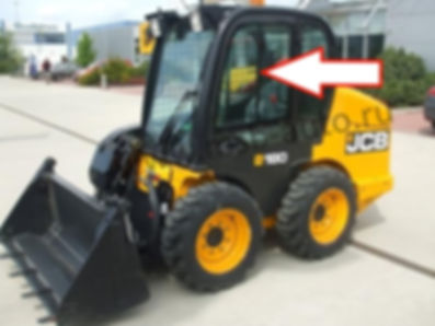 Стекло дверное верхнее мини-погрузчик Jcb 1110 Т, Jcb Robot 160,180,190,220