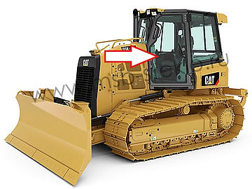 Cтекло дверное левое бульдозер Catepillar D5K XL, Catepillar D6K