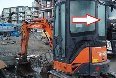 Стекло заднее экскаватор Hitachi ZX22U 27U 30U 40U 50U