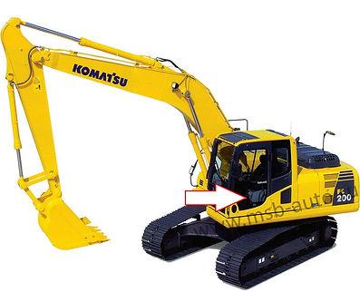 Стекло дверное левое нижнее экскаватор гусеничный Komatsu PC 200-8, Komatsu PC 220-8, Komatsu PC 300-8, Komatsu PC 400-8, Komatsu PC 750-8, Komatsu PC 800-8, 20Y-53-11451
