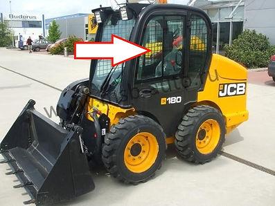 Стекло дверное верхнее подвижная форточка мини-погрузчик Jcb 1110 Т, Jcb Robot 160,180,190,220