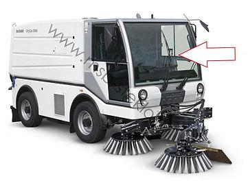 Стекло лобовое коммунальная машина пылесос Bucher CityCat 5000