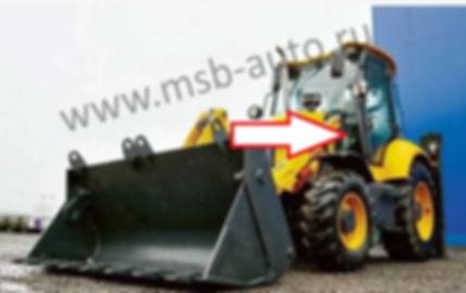 Стекло лобовое левое экскаватор погрузчик ELAZ BL880 ЕЛАЗ,  Tarsus 880, Tarsus 880 plus, Тарсус
