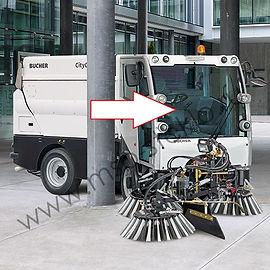 Стекло лобовое коммунальная машина пылесос Bucher CityCat 2020 Бучер сити кэт,кабина Матек, мотек
