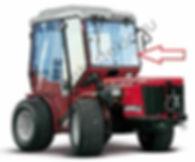 Стекло лобовое центральное для трактора Antonio Carraro TTR 440 HST