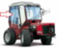 Стекло дверное правое для трактора Antonio Carraro TTR 4400 HST