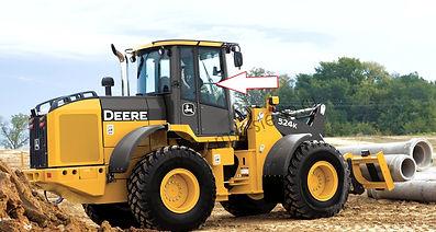 Стекло кузовное перднее правое фронтальный погрузчик John Deere 444K, 524K, 544K, 624K, 644K, 724K, 744K, 824K, 844K .