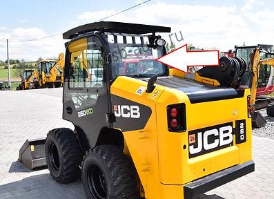 Стекло заднее мини погрузчик Jcb Eco Robot 155,255,260