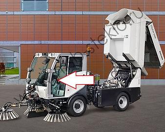 Стекло дверное левое коммунальная машина пылесос Bucher CityCat 2020 Матек