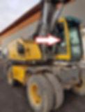 Стекло кузовное правое у стрелы Экскаватор Volvo EW 140 b, 145 b, 160 b, 180 b, EC 180 Blc, 210 Blc, 240 Blc, 290 Blc, 460 Blc, 2003 .