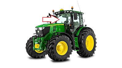 Стекло лобовое трактор JOHNDEERE6068 RW,8430 RW,7830 RW,7930 RW, Джон дир