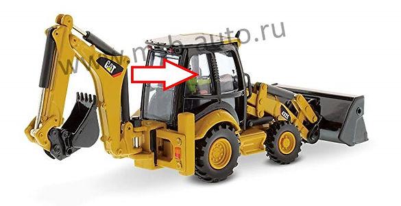 стекло кузовное заднее правое верхнее  экскаватор-погрузчик Caterpillar 428 e, 432e, 434e, 444e 2006 .