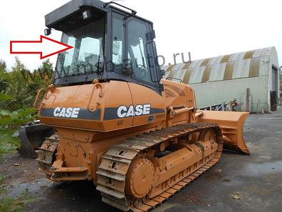 Стекло заднее бульдозер Case 1150K, Case 1150M