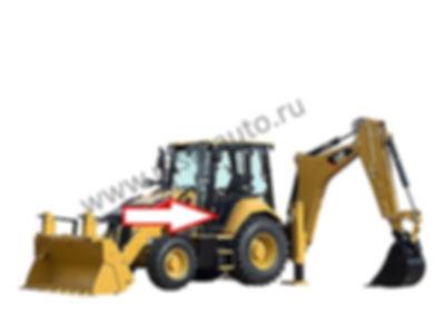 Стекло дверное левое нижнее экскаватор-погрузчик Caterpillar 428f2, 432f2, 434f2, 444f2