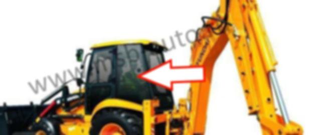 Стекло кузовное заднее левое экскаватор погрузчик  HYUNDAI H930S  H940S