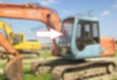 Cтекло лобовое верхнее Экскаватор гусеничный Hitachi EX100, EX120, EX200, EX300-3 серия, 5 серия