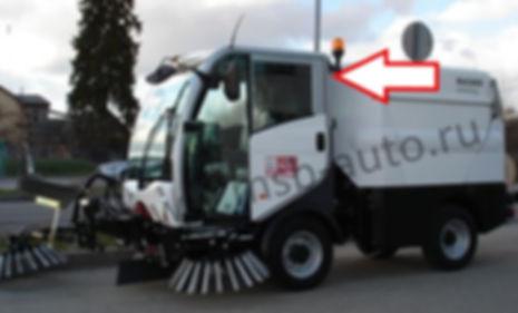 Стекло заднее коммунальная машина пылесос Bucher CityCat Мулинари