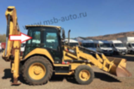 стекло кузовное заднее правое верхнее экскаватор-погрузчик Caterpillar 428f, 432f, 434f, 444f