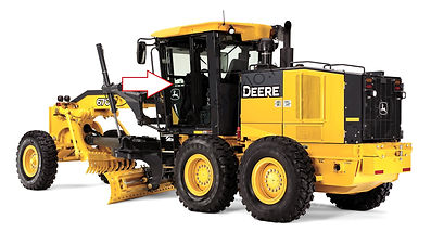 Стекло дверное левое автогрейдер John Deere 670G,672G,770G,772G,870G,872G