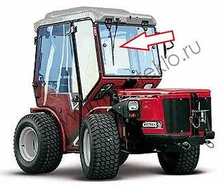 Стекло дверное левое для трактора Antonio Carraro TTR 4400 HST