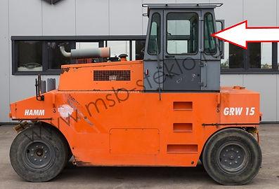 Стекло кузовное заднее левое HAMM GRW-15