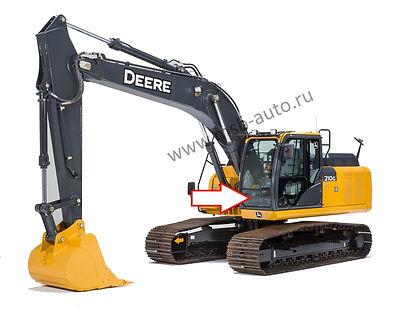 Стекло лобовое нижнее экскаватор John Deere 210 GLC-360 GLC ,  John Deere 210 DLC-360 DLC