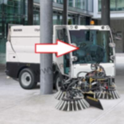 Стекло лобовое коммунальная машина пылесос Bucher CityCat 2020 Бучер сити кэт