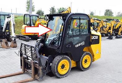 Стекло лобовое мини погрузчик Jcb Eco Robot 155,255,260 .
