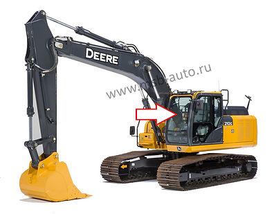 Стекло лобовое верхнее экскаватор John Deere 210 GLC-360 GLC ,  John Deere 210 DLC-360 DLC