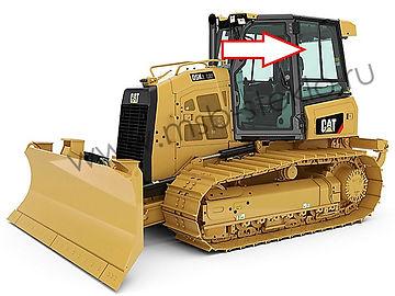 Cтекло кузовное заднее левое верхнее  глухое бульдозер Catepillar D5K XL, Catepillar D6K