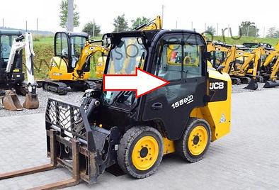 Стекло дверное левое мини погрузчик Jcb Eco Robot 155,255,260 .