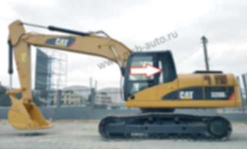 Стекло кузовное заднее левое  экскаватор гусеничный Caterpillar 320 DL, 324 DL, 325 DL,  329 DL, 336 DL, 320 EL, 324 EL, 325 EL, 329 EL, 336 EL .