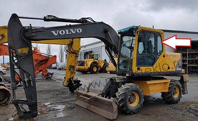 Стекло кузовное заднее левое Экскаватор Volvo EW 140 b, 145 b, 160 b, 180 b, EC 180 Blc, 210 Blc, 240 Blc, 290 Blc, 460 Blc, 2003 .